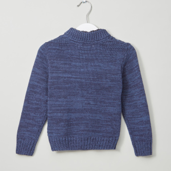Eligo Henley Neck Cable Knitwear