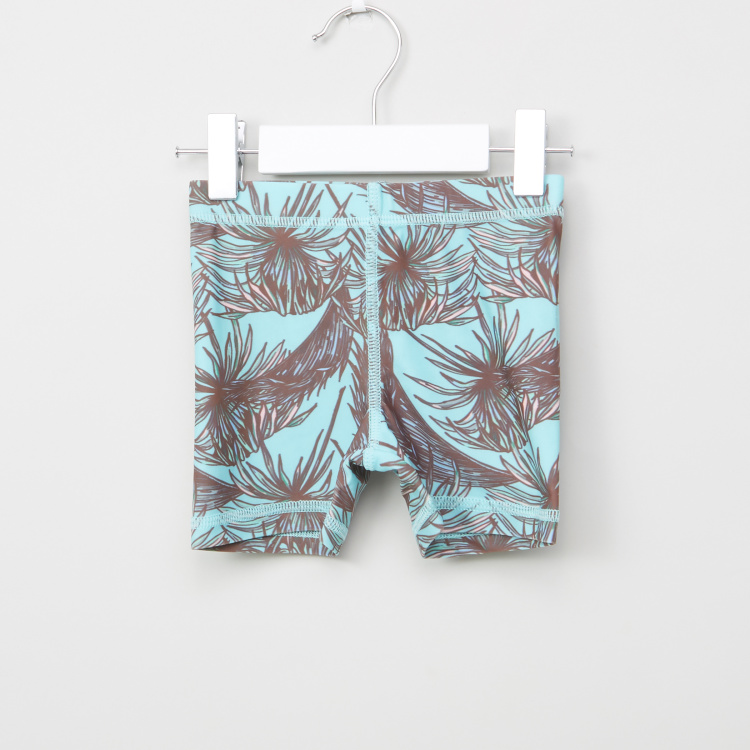 Juniors Printed Swimming Trunks with Elasticised Waistband
