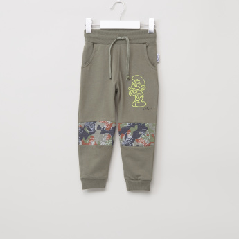 The Smurfs Printed Jog Pants with Elasticised Waistand