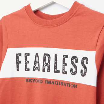 Juniors Fearless Slogan T-Shirt