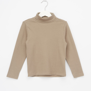 Juniors Turtleneck Long Sleeves T-Shirt