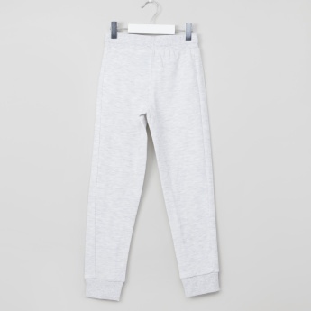 Juniors Textured Jog Pants with Pocket Detail