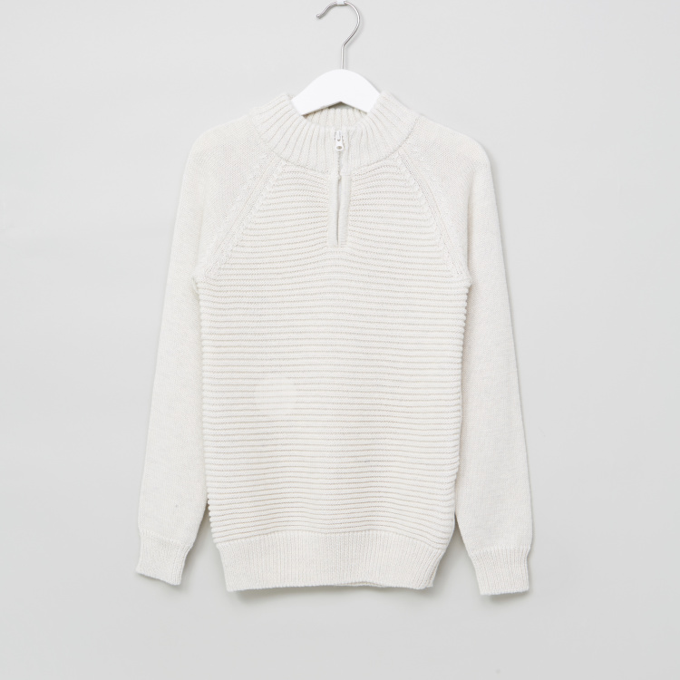 Juniors Ribbed Long Sleeves Sweater