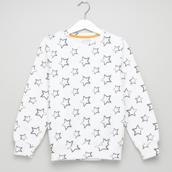 Juniors Star Printed Sweatshirt