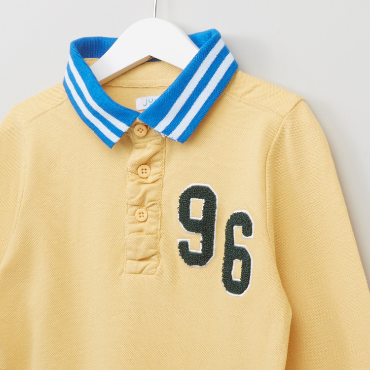 Juniors 96 Number Printed Polo T-Shirt