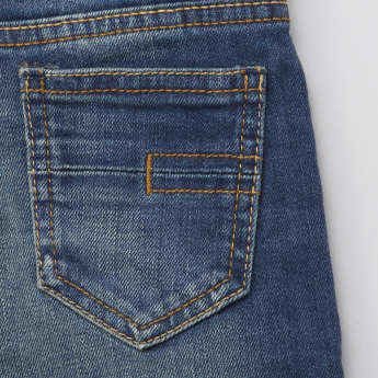 Juniors Denim Pants with Tearing Detail
