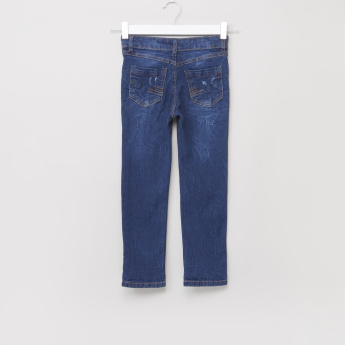 Juniors Denim Pants with Rip Effect