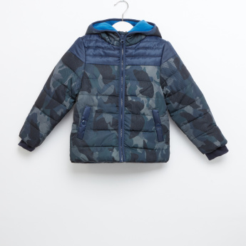 Juniors Camouflage Hooded Jacket