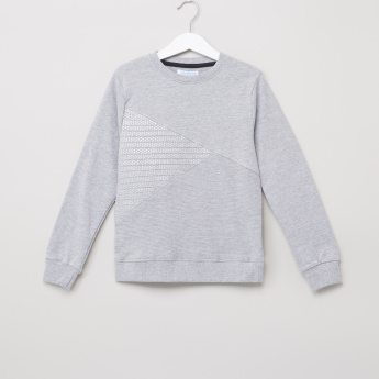 Juniors Textured Round Neck Long Sleeves Pullover