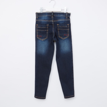 Juniors Jeans with Pocket Detail and Zip Closure