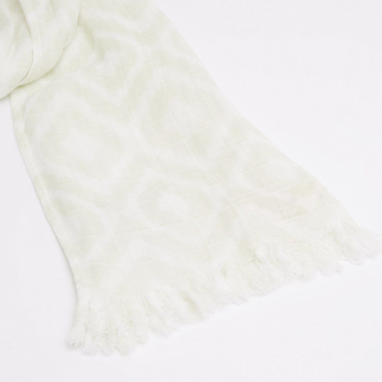 Eligo Printed Scarf with Tassels