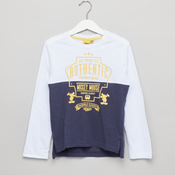 Mickey Mouse Printed Long Sleeves T-Shirt