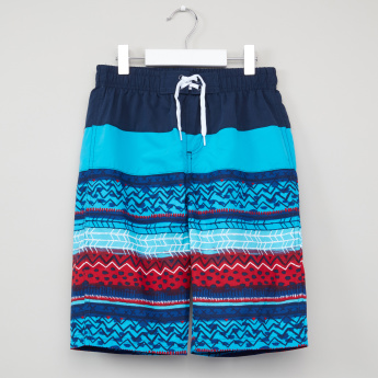 Juniors Printed Board Shorts with Elasticised Waistband