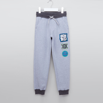 Ben 10 Jog Pants with Applique Detail and Pockets