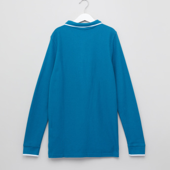 Posh Polo Neck Long Sleeves T-Shirt