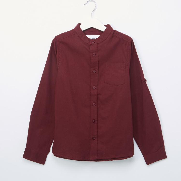 Posh Mandarin Collar Shirt