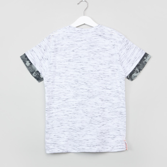 Posh Panel Printed Round Neck T-Shirt