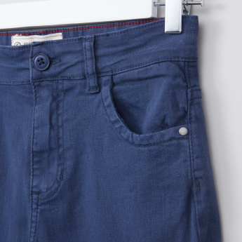 Posh Pocket Detail Pants with Button Closure