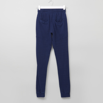 Posh Pocket Detail Jog Pants with Elasticised Waistband and Drawstring