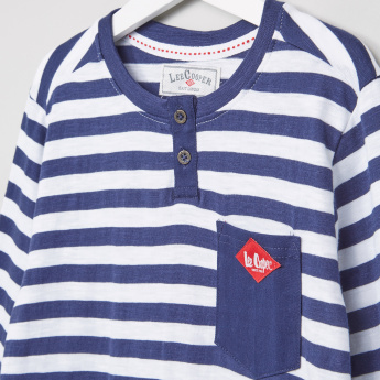 Lee Cooper Striped Long Sleeves T-Shirt