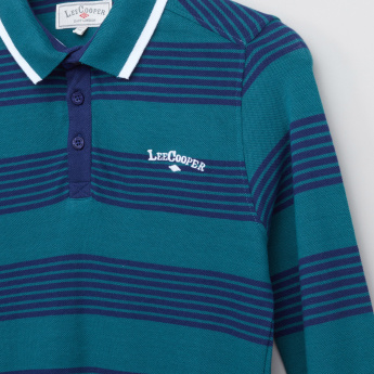 Lee Cooper Polo T-Shirt with Stripes