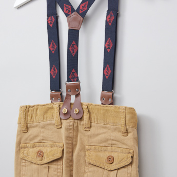 Lee Cooper Full Length Trousers with Button Closure and Suspenders