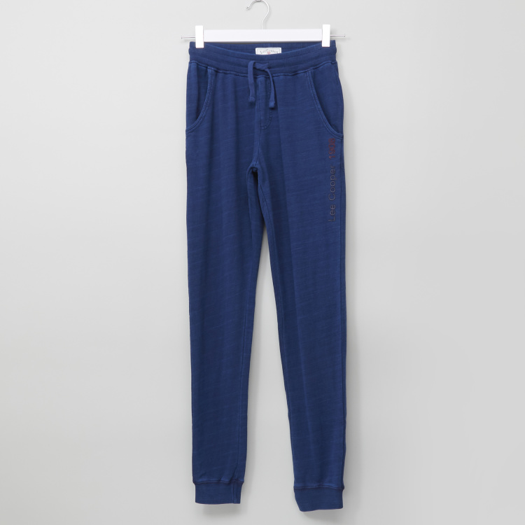 Lee Cooper Indigo Knitted Joggers