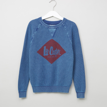 Lee Cooper Printed Textured Long Sleeves Sweatshirt