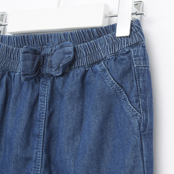 Juniors Pull-On Denim Pants with Lining