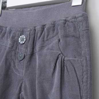 Juniors Ribbed Full Length Pants with Elasticised Waistband