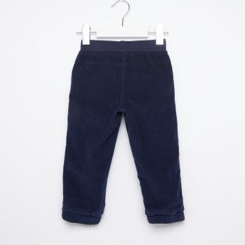Button and Pocket Detail Jog Pants with Elasticised Waistband