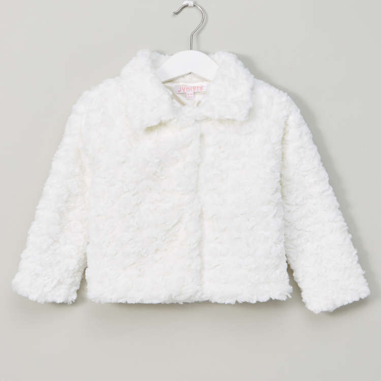 Plush Detail Long Sleeves Jacket