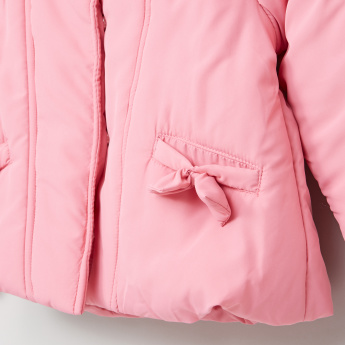 Juniors Bow Detail Long Sleeves Jacket