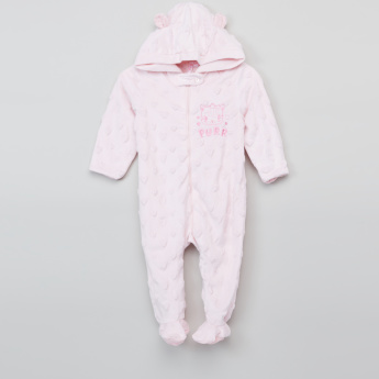 Juniors Textured Closed Feet Sleepsuit