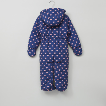 Juniors Printed Long Sleeves Coverall