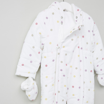 Juniors Printed Microfiber Coverall