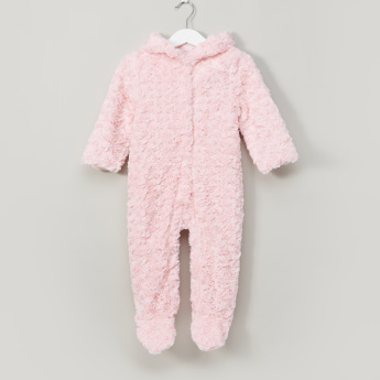 Juniors Plush Detail Closed Feet Sleepsuit