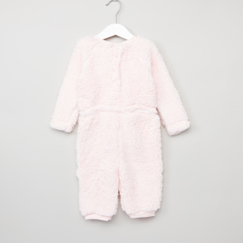 Juniors Plush Long Sleeves Romper
