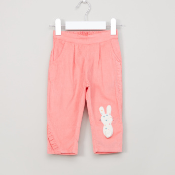 Juniors Applique and Pocket Detail Pants with Elasticised Waistband