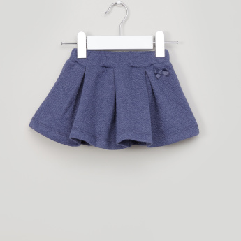 Giggles Textured Pleated Skirt with Elasticised Waistband