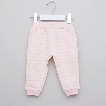 Giggles Textured Jacket with Jog Pants