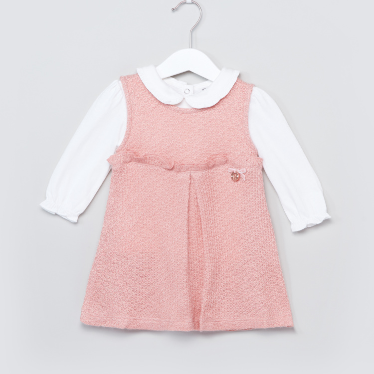 Giggles Pinafore with Long Sleeves Top