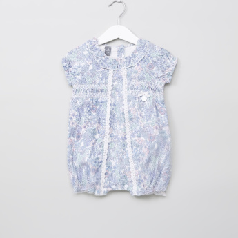 Giggles Frill and Lace Detail Romper