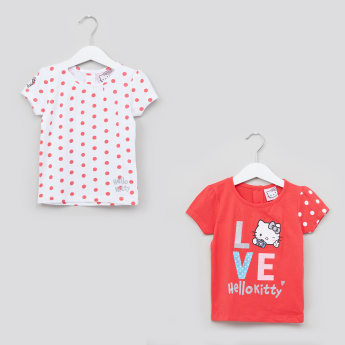 Hello Kitty Printed T-Shirt - Set of 2
