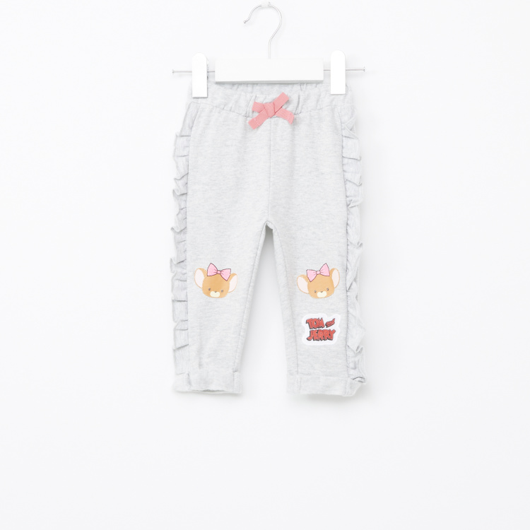 Tom and Jerry Printed Ruffle Detail Jog Pants