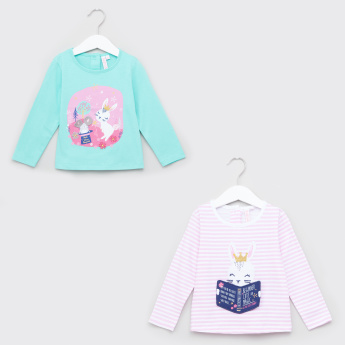 Juniors Bunny Applique T-Shirt - Set of 2