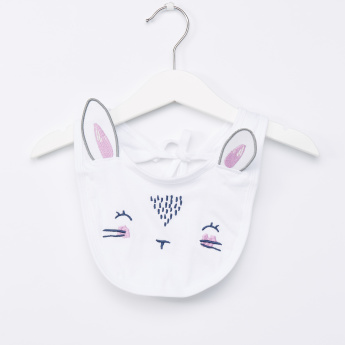 Juniors Bunny Graphic Brushed Terry Romper and Bib