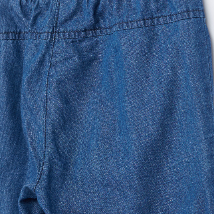 Juniors Textured Pants with Pocket Detail