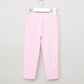 Juniors Ribbed Pants with Elasticised Waistband and Pocket Detail