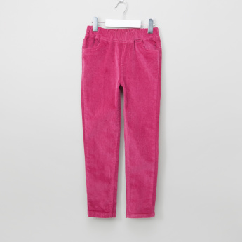 Juniors Textured Jeggings with Pocket Detail and Elasticised Waistband